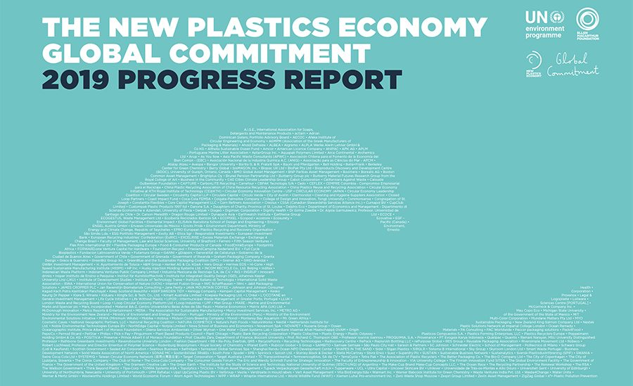 New global commitment report reveals progress towards eliminating plastic pollution